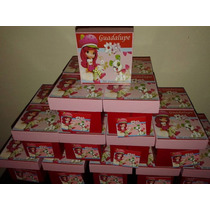 Cajas Infantiles Frutillitas, Minnie, Kitty, Many, Spiderman