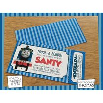 Tarjetas Invitación Evento Cumple Personaliza Thomas El Tren