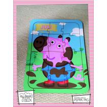 Souvenir Rompecabeza Personalizado Madera 30x30 Peppa Pig