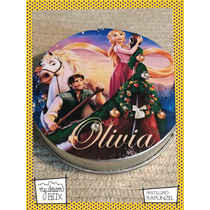 Souvenir Evento Lata Pastillero Personaliza Rapunzel Disney