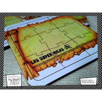 Souvenir Rompecabeza Personaliza Madera 10x10 Mapa Pergamino