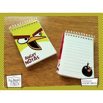 10 Anotadores Personalizado 20 Hojas Souvenir Angry Bird