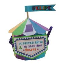 Souvenir Infantil Caja Circo Multicolor Para Cumpleaños!