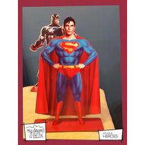 Souvenir Aplique Personalizado Madera 40cm Heroe Superman Dc