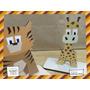 Souvenir Aplique Personalizado Madera 30cm Animales Tigre