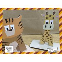 Souvenir Aplique Personalizado Madera 10cm Animales Tigre