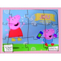 Souvenir Rompecabeza Personalizado Madera 10x12 Peppa Pig