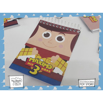 10 Anotadores Personalizado Toy Story Woody Sheriff 40 Hojas