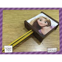 Souvenir Personalizado Aplique Lápiz Madera Disney Rapunzel