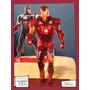 Souvenir Aplique Personalizado Madera 10cm Iron Man Heroes