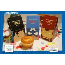 Caja Personalizada Cumpleaños / Heroes / Souvenir Infantil