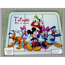 Souvenir Rompecabeza Personaliza Madera 10x10 Mickey Disney