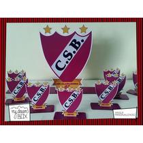 Souvenir Personalizado Madera 30cm Futbol Escudo A Pedido