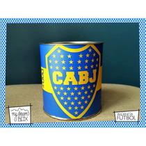 Souvenir Personalizado Alcancía Lata Evento Futbol Arg Boca