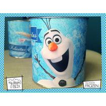 Souvenir Personalizado Alcancía Lata Evento Frozen Disney