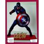 Souvenir Personalizado Madera 10cm Heroes Capitan América