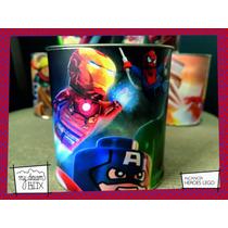 Souvenir Personalizado Alcancía Lata Evento Heroes Iron Man
