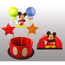 Centros De Mesa + Servilleteros. Mickey Peppa Kitty Minnie
