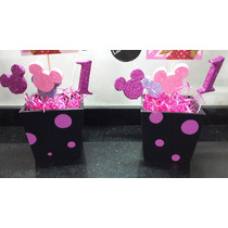 Centros De Mesa Y Souvenirs Mickey Y Minnie
