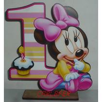 6 Centros De Mesas Mickey Bebe O Minnie Bebe 1 Año