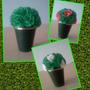 Macetas Ideal Centro De Mesa -souvenirs Con Flores De Papel