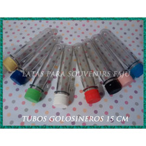 Tubos De Ensayo Golosineros Para Souvenirs De 15cm