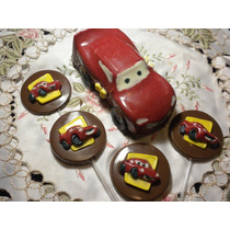 10 Chupetines De Chocolate Cars - Rayo Mc Queen