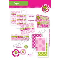 Kit Para Imprimir En Casa! Sapita Pepa! En Tonos Rosa/verde