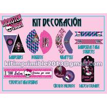 Kit Imprimible Decoración Monster High