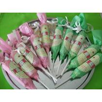 10 Chupetines Pico Dulce Personalizados Golosinas Candy Bar