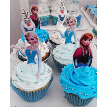 Frozen Figuras Toppers Pinchos Para Muffins