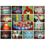 Angry Birds - Candy Bar Premium Completo Para 20 Niños