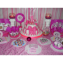 Bautismo Y/o 1° Añito - Candy Bar Completo Para 20 Niños
