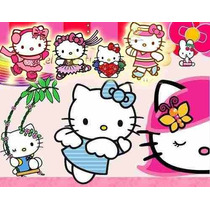 Kit Imprimible Hello Kitty, Tarjetas,invitaciones,cajitas