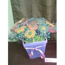Golosineros De 25 Flores De Gomitas Con Maceta