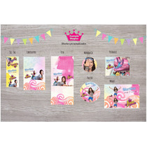 Soy Luna Golosinas Personalizadas Stickers Candy Bar 20 Ch