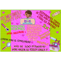 Kit Imprimible Candy Bar Dra Juguetes!! Muy Completo!! 2x1!!
