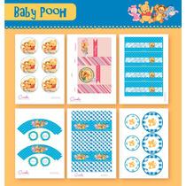 Kit Para Imprimir En Casa! Golosinas De Winnie Pooh