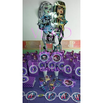 Monster High - Candy Bar Premium Completo Para 20 Niños