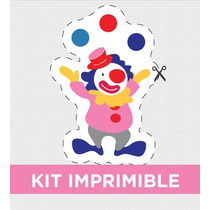 Kit Imprimible Circo Nena Cumple Invitacion Personalizado