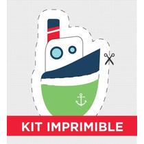 Kit Imprimible Marinero Pirata Personalizado Para Cumple