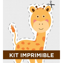 Kit Imprimible Zoo Personalizado Para Cumple Y/o Bautismo