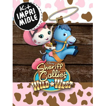 Kit Imprimible Sheriff Callie Candy Bar - Texto Editable