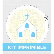 Kit Imprimible Pintitas Nene Personalizado Bautismo