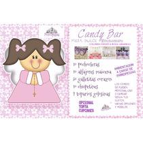 Candy Bar, Mesa Dulce Comunion, Cumpleaños, 15, Casamientos