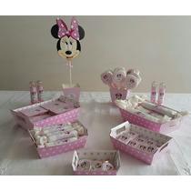 Candy Bar Minnie Rosa! Para 15 Personas! 90 Golosinas