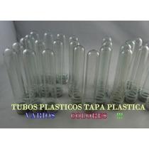 Tubos Plasticos T/p Varios Colores 10 X $ 22