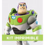 Kit Imprimible Toy Story Buzz Cumple Invitación Banderines