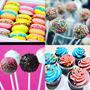 Cupcakes - Cakespop - Alfajores De Colores X Doc $130
