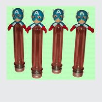 32 Tubos Golosineros - Superheroes- Porcelana Fría